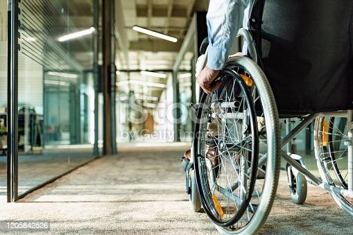 wheelchair-bound client